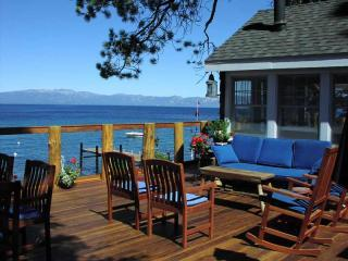 Lakeside deck - Historic Lakefront Estate w/ Hot Tub, Weddings OK! - Tahoma - rentals