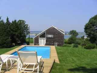Stunning sunsets over the water can be seen from both the heated swimming pool and house. - Spectacular Water Views & Sunsets in East Hampton - East Hampton - rentals