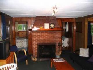 Fireplace - Sun Valley Cottages, The Lodge - Weirs Beach, NH - Laconia - rentals