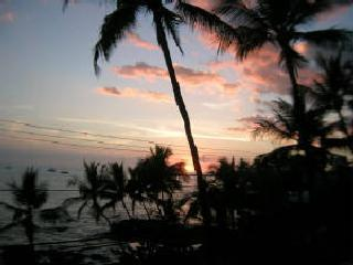 Sunset from the lanai at Kona Alii #303 - Prime Location in Kona Village . Walk or drive - Kailua-Kona - rentals