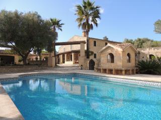 Villa with private pool and surrounding garden. - Playa de Muro vacation rentals