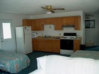 Kitchen - Living Room with daybed - Blue Marlin Second Row OceanView Apartment 12 - Kure Beach - rentals