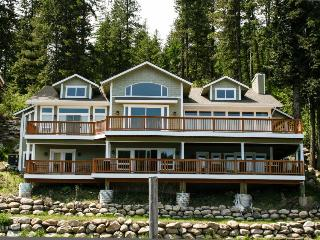 Grand lakefront home w/ stunning lake views & wrap-around deck! - Coeur d'Alene vacation rentals