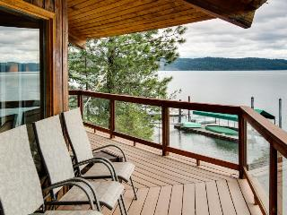 Unique home w/ stunning lakefront views, a wrap-around deck & a private dock! - Coeur d'Alene vacation rentals