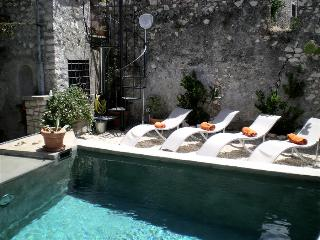 Sermoneta, Historic Stone Village House with Pool, in a  Medieval Hill Town close to Rome and Naples - Lazio vacation rentals