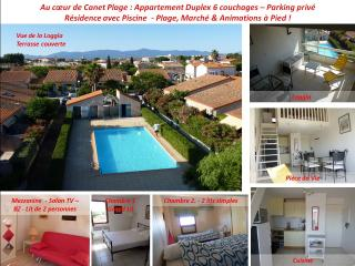 Canet Plage Appt 4-6 personnes Piscine Parking - Canet-Plage vacation rentals