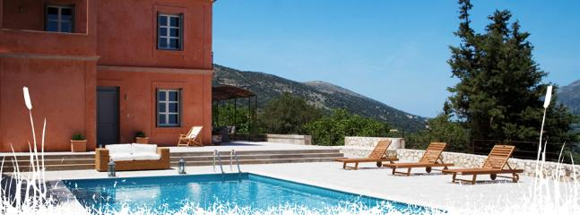 The pool - Villa Daphni. Luxury villa in Kefalonia, Greece. - Cephalonia - rentals