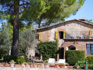 Tremendous Tuscan holiday farmhouse with private hillside pool, terrace and garden, sleeps 10 - Castelnuovo Berardenga vacation rentals