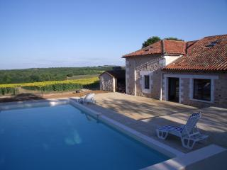 Large character barn with beautiful heated pool - Montbron vacation rentals