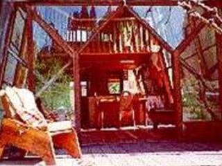 Outside deck - Cabin in the Redwoods on private 400-acre ranch - Mendocino - rentals
