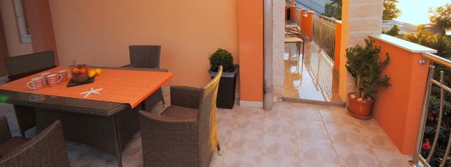 Seafront terrace apartment for  four persons - Arbanija vacation rentals