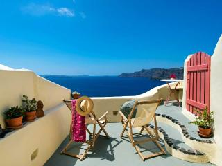 Oia's Nest sits on the cascading cliffs of Oia. - Oia vacation rentals