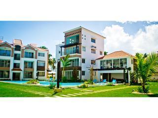 Corte Sea community shot of pool, common area, etc. - Corte Sea 2 BR condo in Bavaro Punta Cana - Punta Cana - rentals