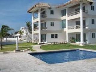 Casita Blanca - Condo is on the 2nd floor of this building - Beach front condo in Puerto Morelos - Puerto Morelos - rentals