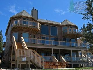 The Grand on the Shore Cabin Lodge a Lakefront Big Bear Vacation Cabin with majestic lake views, boat dock, outdoor hot tub, BBQ - Fawnskin vacation rentals