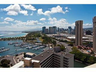 View From Panoramic Sliding Glass Windows - Absolutely Ocean View-Best In Building - Honolulu - rentals
