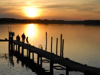 Peaceful, Waterfront Home on 3 Acres (pier + western view w/gorgeous sunsets) - Chester vacation rentals