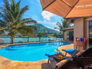 Waterfront family-friendly Villa Nani Wai with pool & jacuzzi and gorgeous views - Oahu vacation rentals