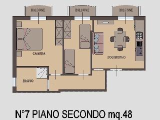Appartamento Trilocale 2° piano - Rimini vacation rentals