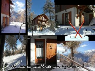 Chalet Trolle, 4 pers, grande terrasse, pied piste - Les Orres vacation rentals