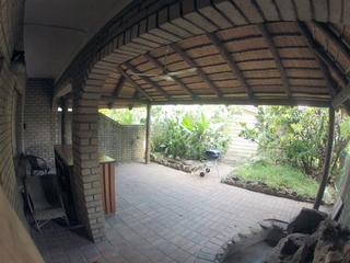 Outdoor patio and BBQ area under thatch - Beach Dunes Holiday Apartment - Richards Bay - Richards Bay - rentals