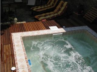 Le Maset des Aires avec Spa extérieur en été - Maubec vacation rentals