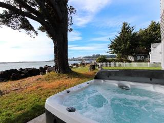 Riverfront beach house w/classic decor, hot tub - ocean views! - Waldport vacation rentals
