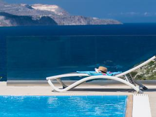 A luxury seafront villa with heated pool - Plaka vacation rentals