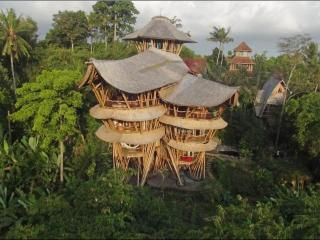 Extraordinary 5 floor Bamboo Palace on River Edge - Mambal vacation rentals