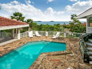 Cool Runnings- striking sunset view of Mahoe Bay with courtyard pool, near beach - British Virgin Islands vacation rentals