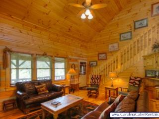 3BR Log Cabin, Close To Town, Hot Tub, Marble, Copper, Flat-Screen, Covered - Boone vacation rentals