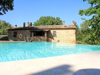 7 bedroom Tuscan farmhouse near rennaissance town of Montepulciano, features include jacuzzi, private garden and pool - Montepulciano vacation rentals