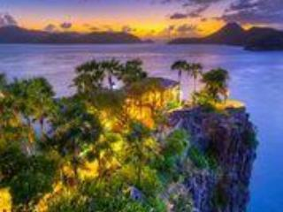 The point of the Peninsula at sunset - BVI's  Iconic Villa Steele Point - West End - rentals