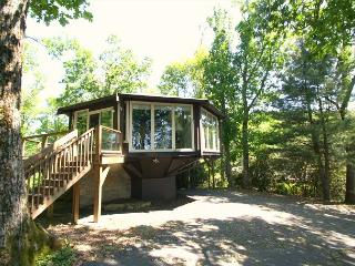 """Brown's Hideaway is a round """"tree house"""" close to The Blue Ridge Parkway - Boone vacation rentals"""