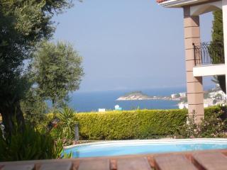VILLA WITH SEA AND POOL VIEW, QUIET & CENTRAL - Kusadasi vacation rentals