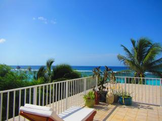 3 bed 3 bath beachfront penthouse with huge decks, pool & tennis - Bodden Town vacation rentals