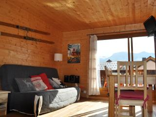 Bright Studio with Tennis Court and Television - Les Carroz-d'Araches vacation rentals
