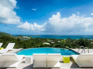 Turquoze, a beautiful contemporary 4 bedroom home nestled in the hills above Orient Bay. - Orient Bay vacation rentals