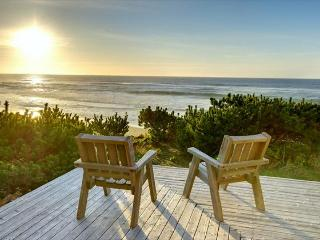 Oceanfront cabin made of knotty wood, homey & eclectic. - Gleneden Beach vacation rentals