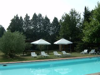 One bedroom apartment in classic Tuscan farmhouse, access to shared swimming pool, gardens and lake fishing - Cortona vacation rentals