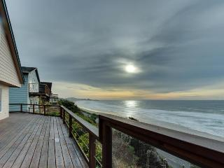 Beach home with gorgeous ocean views, large deck, and grassy yard - Newport vacation rentals