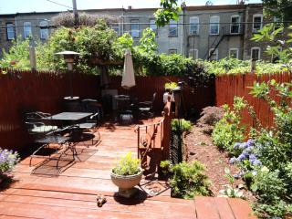 Brownstone Private Garden Beauty - New York City vacation rentals