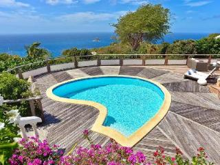 Sunset facing villa Taniko with covered terrace, pool & daily housekeeping - Colombier vacation rentals