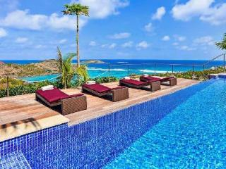 Spacious Villa Chambord offers magnificent views & large heated pool - Saint Barthelemy vacation rentals