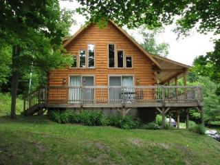 Beautiful, Bright Log Cabin on 90 acres - West Topsham vacation rentals