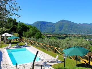 Stunning hillside house in rural Tuscany with private grounds and outdoor pool, sleeps 9 - Barga vacation rentals