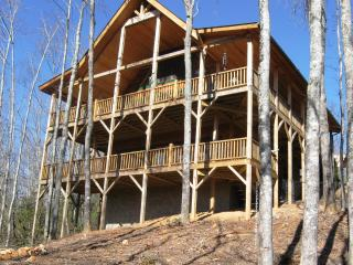 Brevard Area Cabin - 3 levels, 2 decks, 4 bedrooms and 3.5 baths with year-round views - Rosman vacation rentals