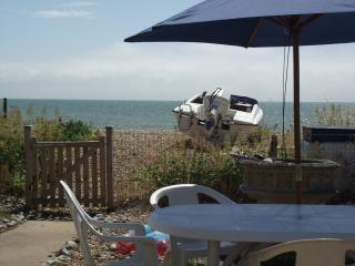 Spacious seaside bungalow on secluded private beach in Pevensey Bay, East Sussex - Pevensey Bay vacation rentals
