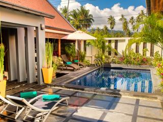 Exotic Tropical Villa with Pool, 150 mtrs to beach - Laem Set vacation rentals