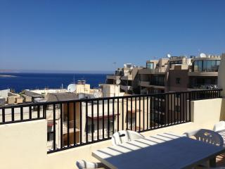 Sea View Penthouse - Free WIFI - Qawra vacation rentals
